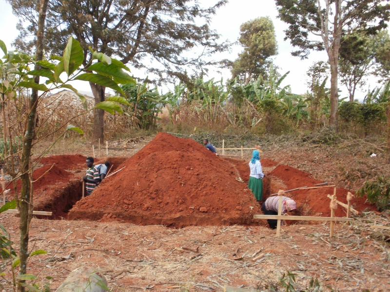 Beginning the foundation for the water storage site