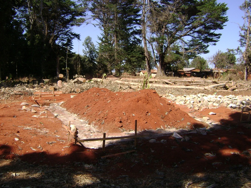 The foundation is nearly finished