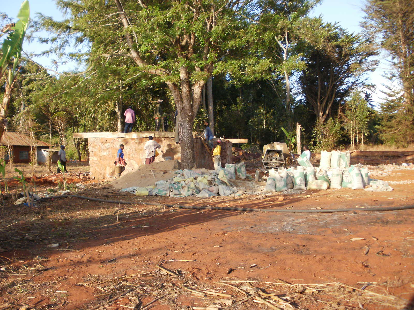 Continuing to build the water tank platform